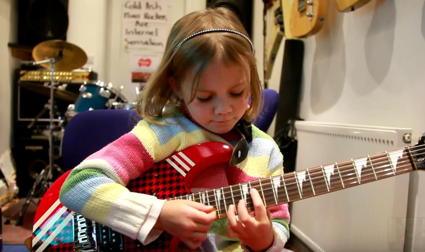 7 Year Old Guitarist