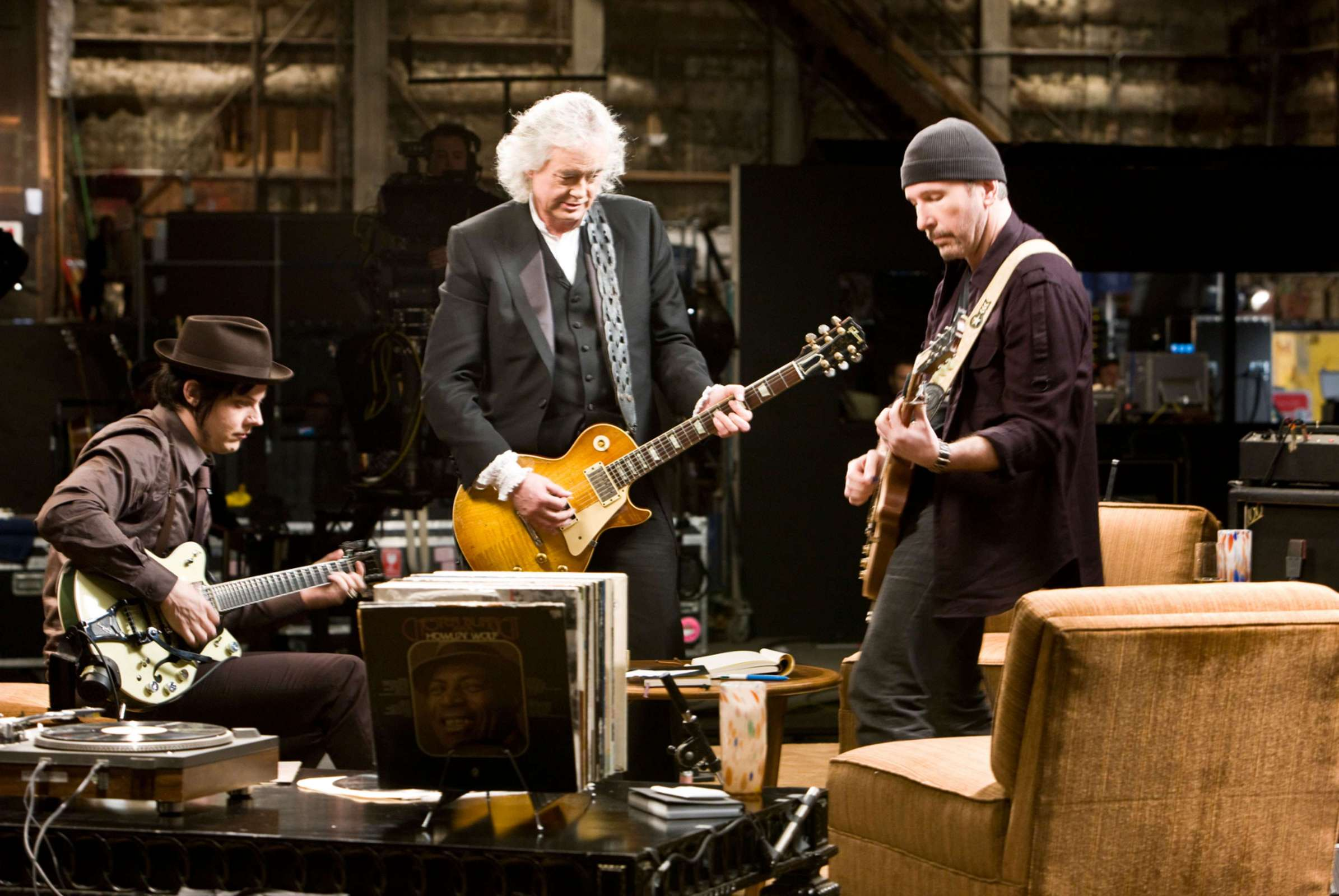Jimmy Page Jack White The Edge